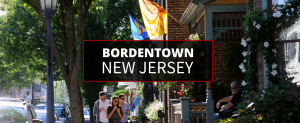 Group of tourists exploring the Bordentown area through historic walking tours.